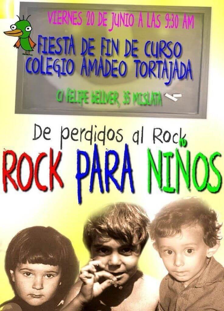 fiesta rock fin curso niños